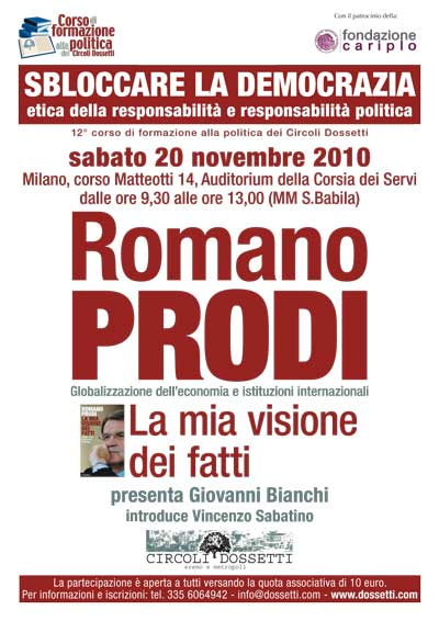Romano Prodi. La mia visione dei fatti.