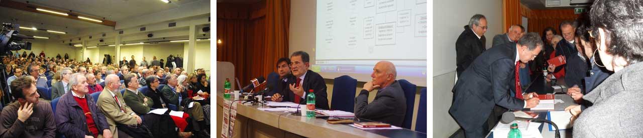 Romano-Prodi-nell'auditorium della Corsia dei servi-per-il-corso-di-formazione-dei-Circoli-Dossetti