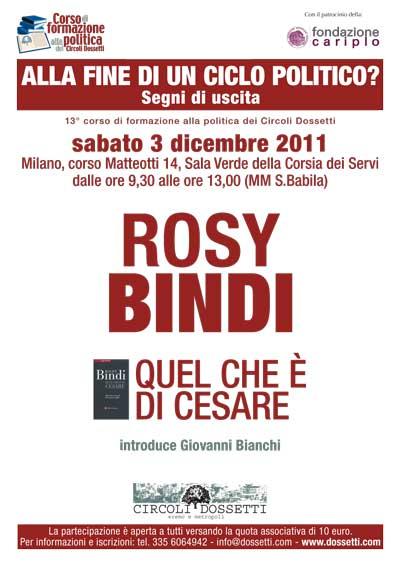 Rosy Bindi. Quel che è di Cesare.
