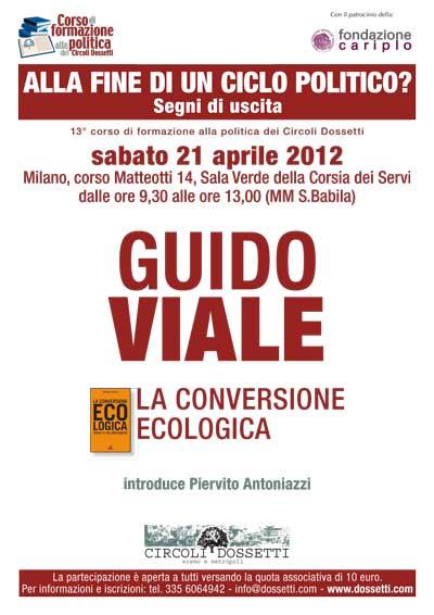 Guido Viale. La conversione ecologica.