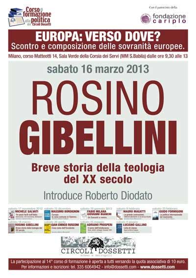 Rosino Gibellini. Breve storia della teologia del XX secolo