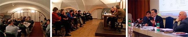 I Corsi di formazione nella Sala Verde della Corsia dei Servi a Milano e Romano Prodi con Giovanni Bianchi e Vincenzo Sabatino.