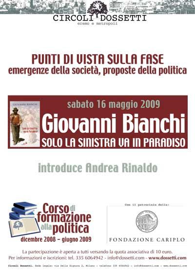 Giovanni Bianchi. Solo la sinistra va in Paradiso.