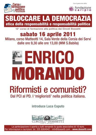 """Enrico Morando. Riformisti e comunisti? Dal PCI al PD. I """"miglioristi"""" nella politica italiana"""