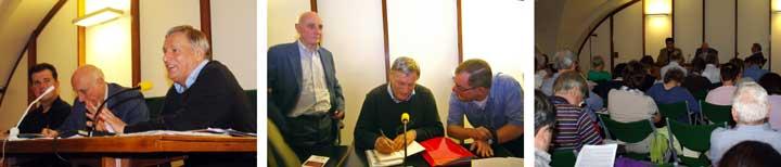 Don Luigi Ciotti nella Sala verde per il corso di formazione dei Circoli Dossetti