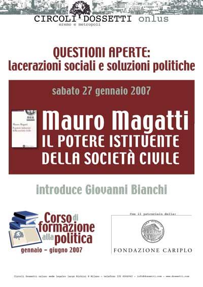 Mauro Magatti. Il potere istituente della società civile.
