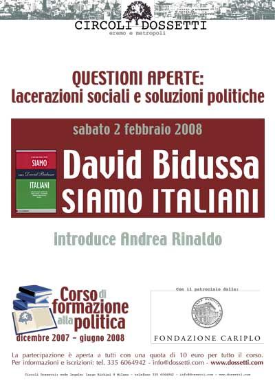 David Bidussa. Siamo italiani.