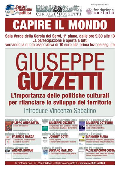 Giuseppe Guzzetti. L'importanza delle politiche culturali per rilanciare lo sviluppo del territorio