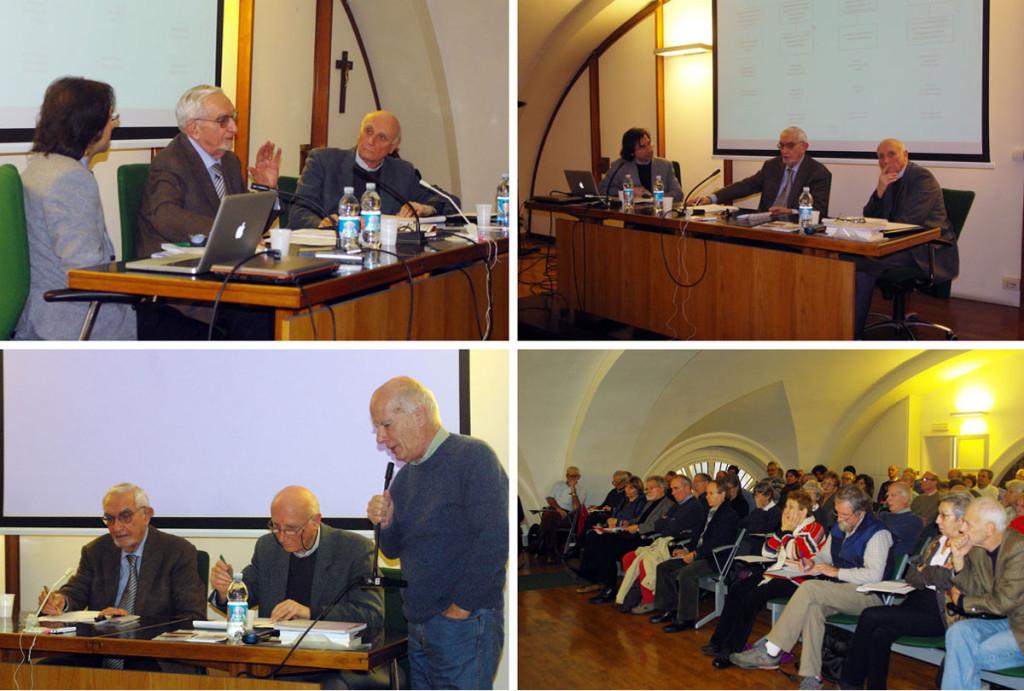 Giuseppe Guzzetti con Giovanni Bianchi e Vincenzo Sabatino nella Sala Verde di via Matteotti 14