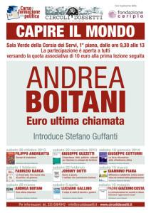 Andrea Boitani. Euro ultima chiamata.