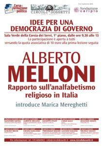Alberto Melloni. Rapporto sull'analfabetismo religioso in Italia.