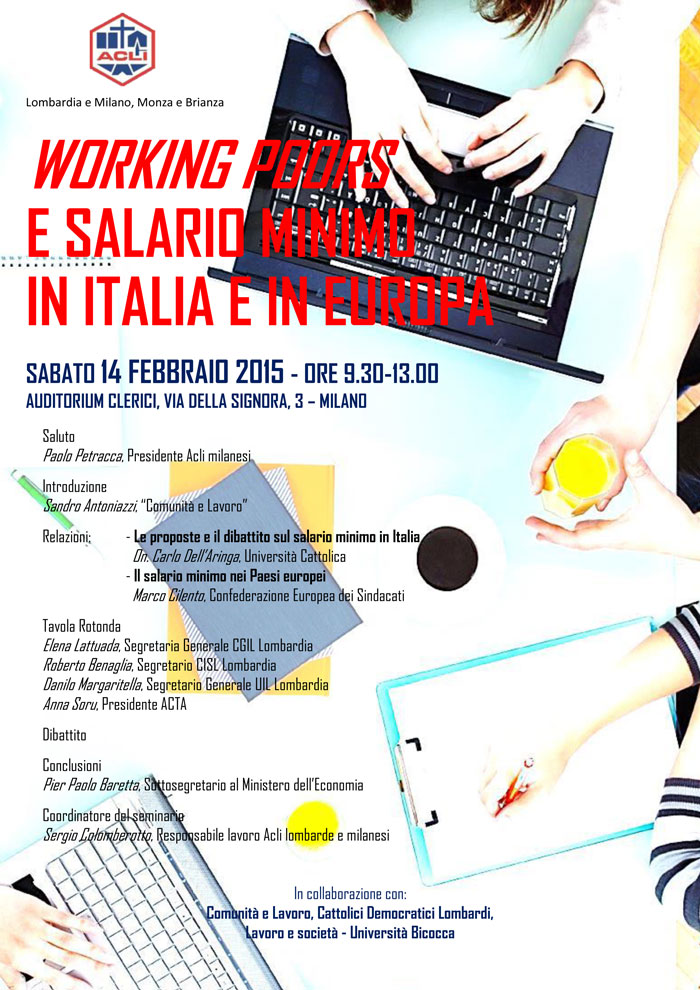 Working poors e salario minimo in Italia e in Europa