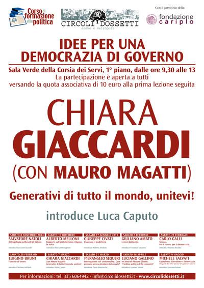Chiara Giaccardi con Mauro Magatti. Generativi di tutto il mondo, unitevi!