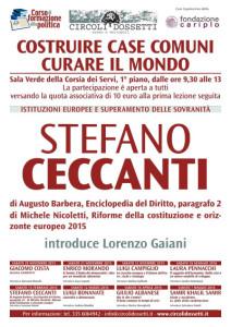 Stefano Ceccanti, Istituzioni europee e superamento delle sovranità