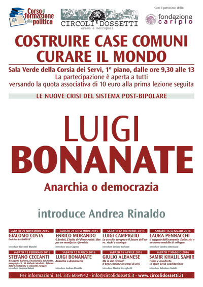 Luigi Bonanate. Anarchia o democrazia.
