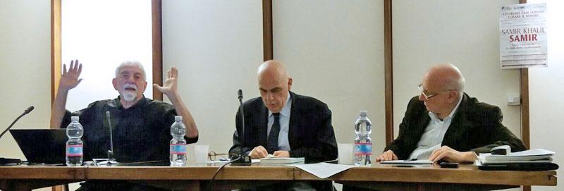 Samir Khalil Samir con Salvatore Natoli e Giovanni Bianchi