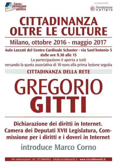 Gregorio Gitti. Cittadinanza della rete