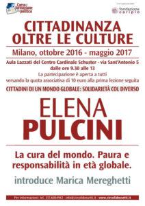 Elena Pulcini. Cittadini di un mondo globale: solidarietà col diverso.