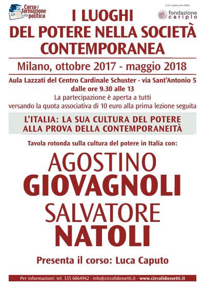 Agostino Giovagnoli, Salvatore Natoli: l'Italia, la sua cultura del potere alla prova della contemporaneità