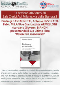 Castagnetti, Pizzinato, Milana e Armelloni ricordano Giovanni Bianchi