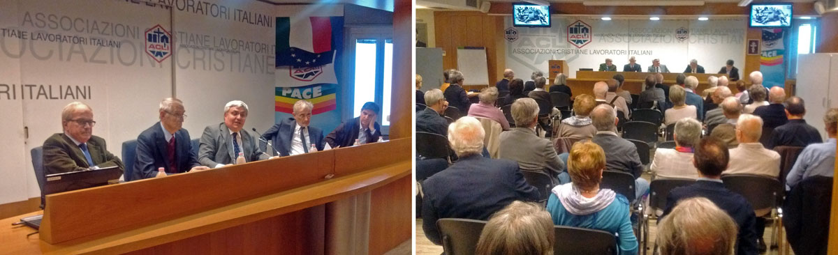14 ottobre 2017, Sala Clerici ACLI Milano: Castagnetti, Pizzinato, Gaiani, Milana e Armelloni ricordano Giovanni Bianchi