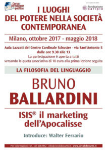 Locandina Bruno Ballardini. ISIS il marketing dell'Apocalisse