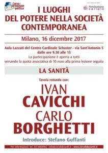 Locandina Ivan Cavicchi, Carlo Borghetti. La sanità.