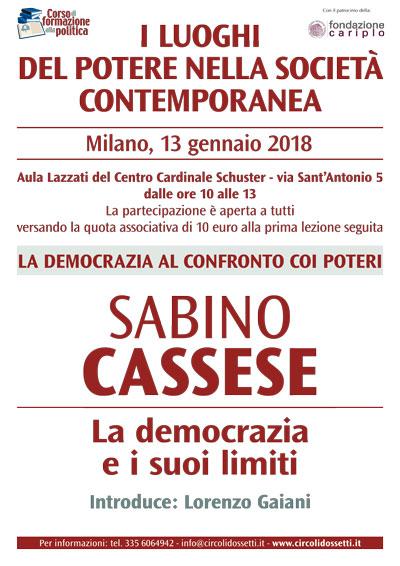 Sabino Cassese. la democrazia e i suoi limiti