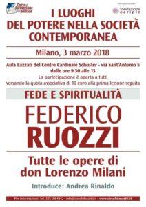 Fede e spiritualità. Federico Ruozzi, tutte le opere di don Lorenzo Milani