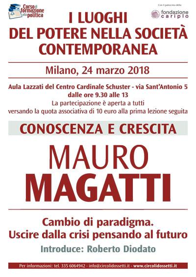 Locandina: Mauro Magatti. Cambio di paradigma. Uscire dalla crisi pensando al futuro.