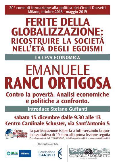 Locandina Emanuele Ranci Ortigosa, contro la povertà. Analisi economiche e politiche a confronto.