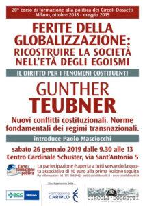 Locandina Gunther Teubner, nuovi conflitti costituzionali - norme fondamentali dei regimi transnazionali