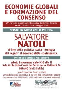 Salvatore Natoli, verso una nuova civiltà politica. LOcandina