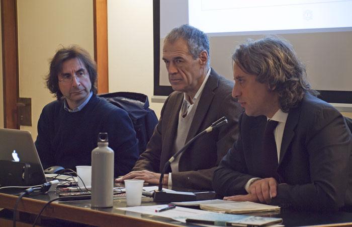 Da sinistra: Vincenzo Sabatino, Carlo Cottarelli, Luca Caputo